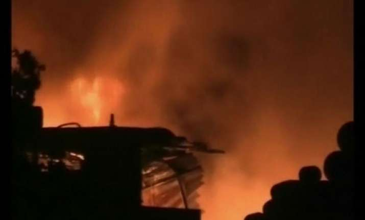 fire devastates factory near kanpur