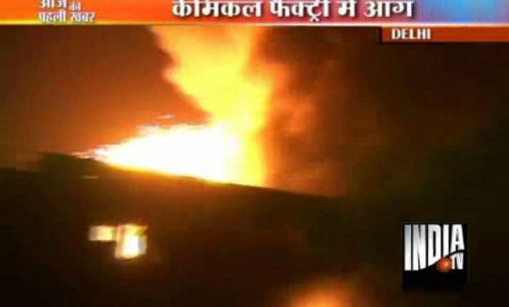 fire guts chemical factory in delhi
