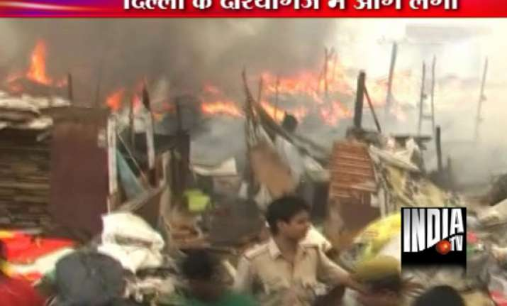 fire guts 100 hutments at slum cluster