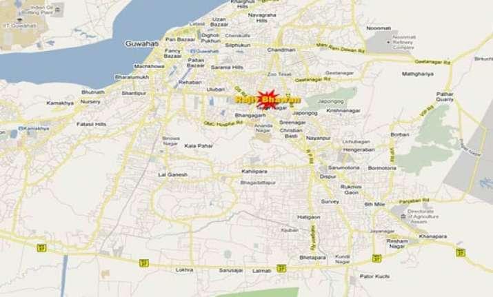 bomb blast in guwahati seven injured