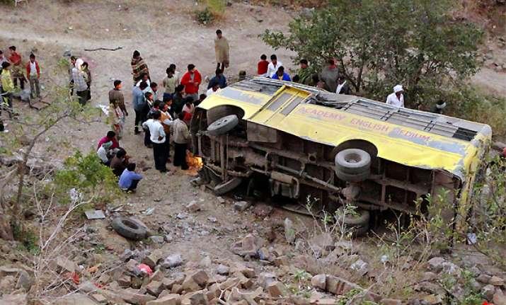 five school children dead as bus falls into gorge near mandu