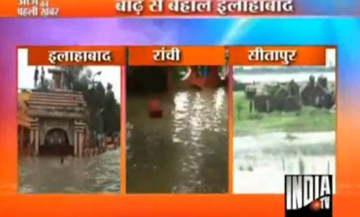 flood woes in up and jharkhand