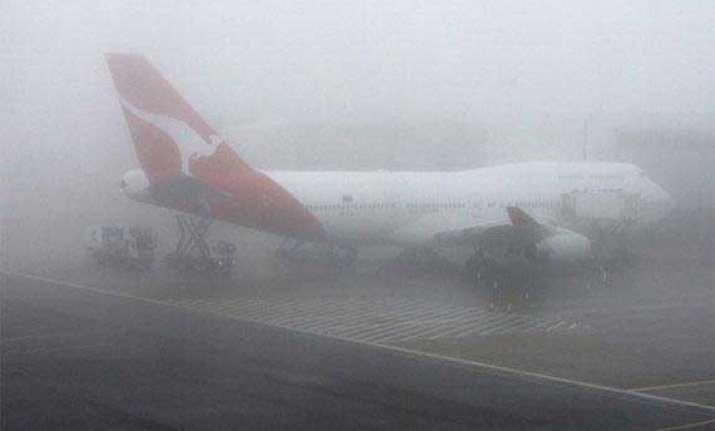 fog disrupts flight schedule at igi