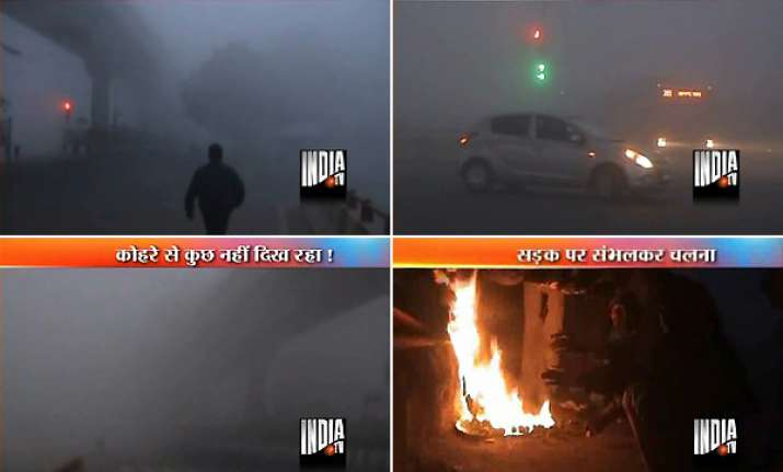 fog disrupts normal life mercury dips in national capital