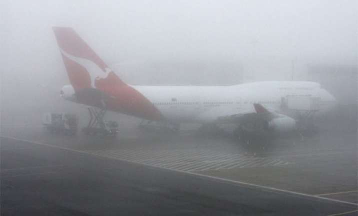 fog disrupts flight operations at igi