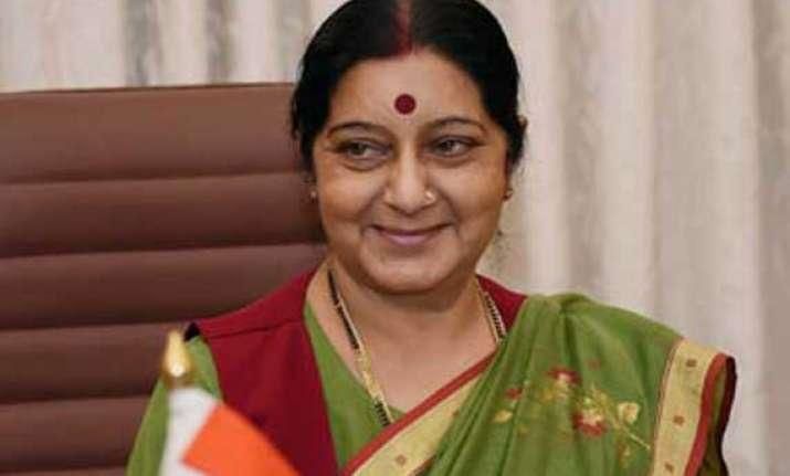 foreign minister sushma swaraj flags off mansarovar yatra