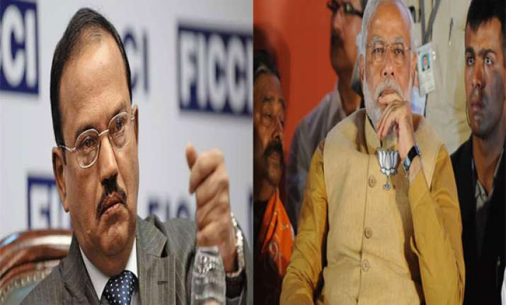 former intelligence bureau chief ajit doval meets narendra