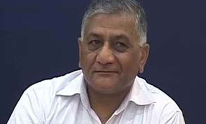 former army chief vk singh condemns police firing on farmers