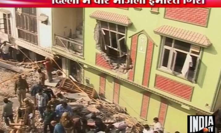 four killed in west delhi building collapse