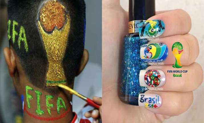 from nails to hair fifa fever grips delhi s fashionistas