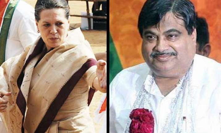 gadkari to sonia what action will you take against pm