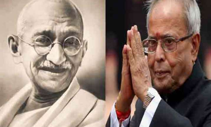 gandhi s ideals are the future for us president