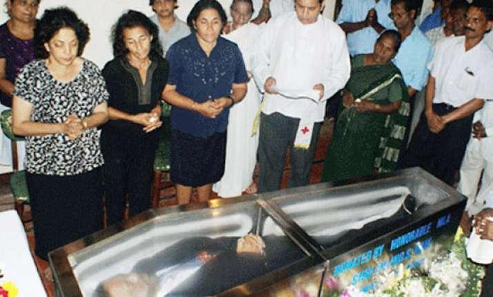 goa minister matanhy saldhana laid to rest