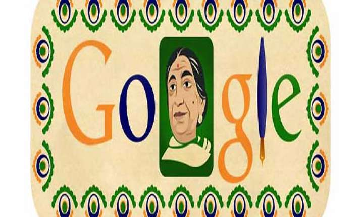 google celebrates sarojini naidu s 135th birthday