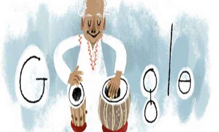 google doodles ustad alla rakha s 95th birthday
