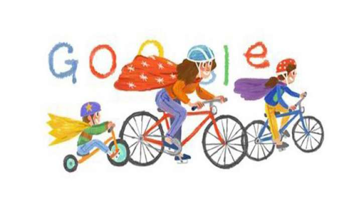 google doodles a super mom with super kids to celebrate