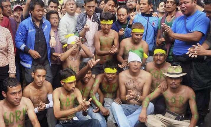 gorkhaland second self immolation bid in darjeeling