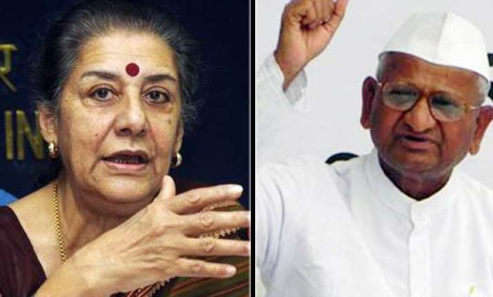 govt justifies delhi police rejecting permission to anna