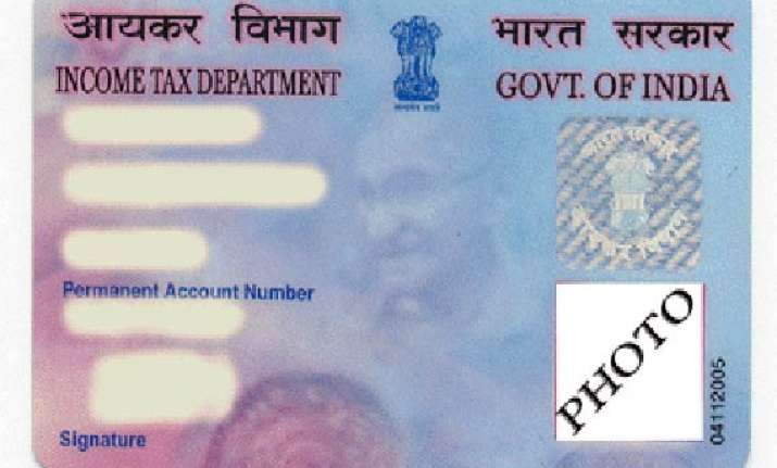 govt to issue biometric pan cards