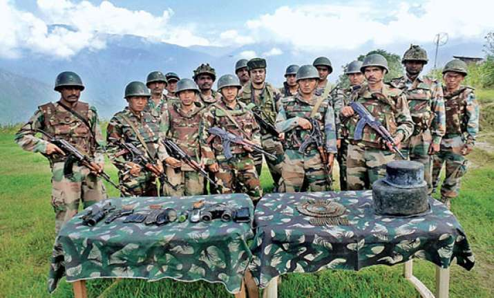guerrilla hideout busted in kashmir arms seized