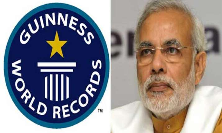 guinness urged to recognise narendra modi s campaign rallies