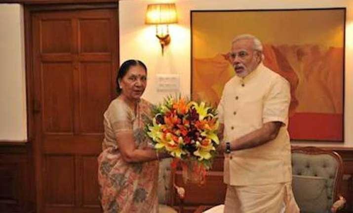 gujarat cm meets pm narendra modi