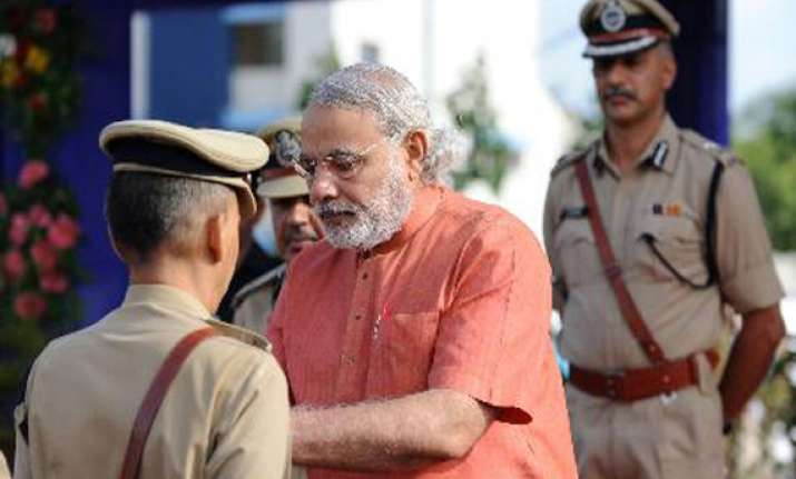 gujarat police slams bihar police over modi s rally security
