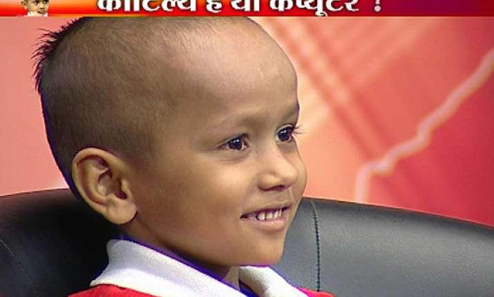 haryana s child prodigy kautilya appears on india tv