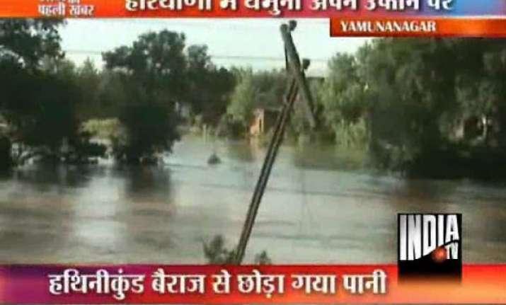 haryana flood threatens delhi