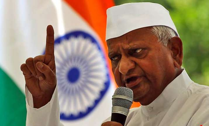 hazare on fast for second freedom struggle