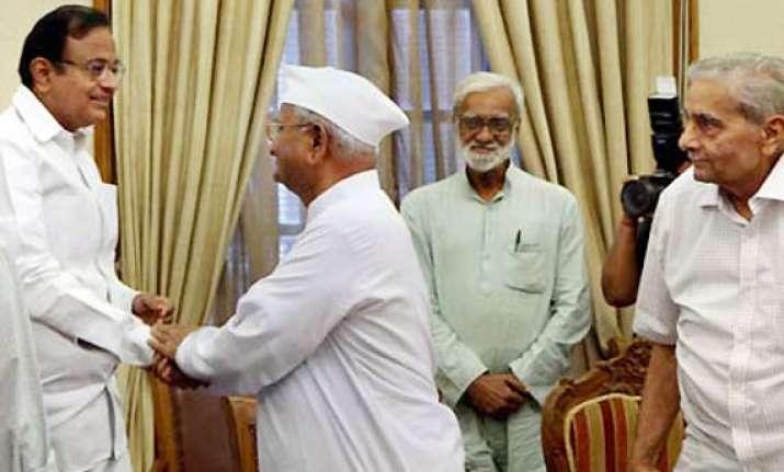 hazare s aug 16 agitation unjustified says chidambaram