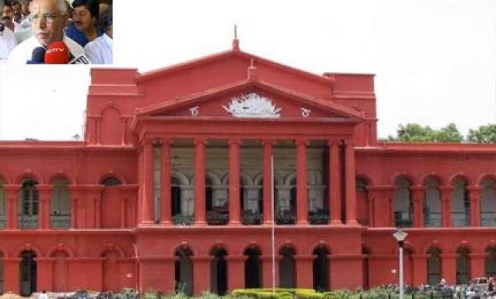 high court stays order against yeddyurappa