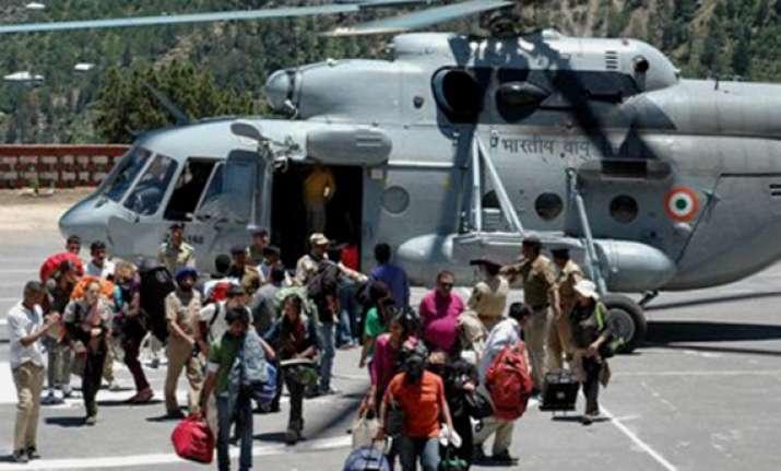 himachal rains choppers airlift over 650 people in kinnaur