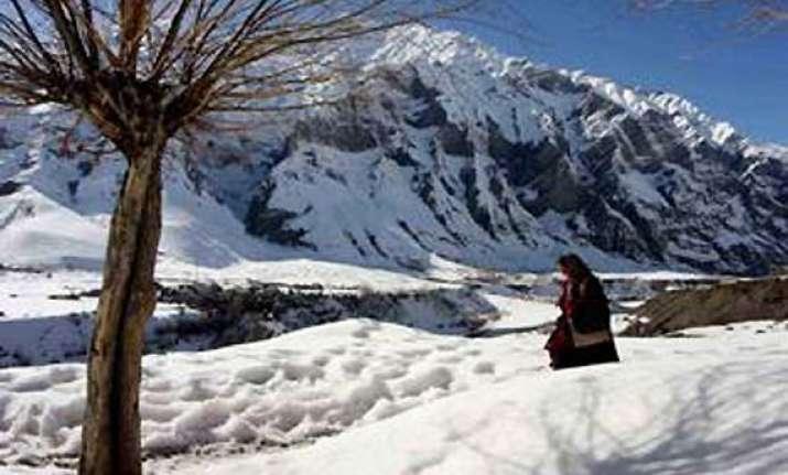 himachal s keylong freezes at minus 8.5 degrees celsius