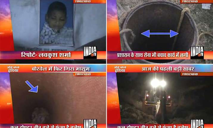 efforts continue to rescue boy trapped inside borewell in up
