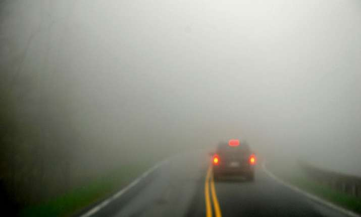 how to drive safely in dense fog