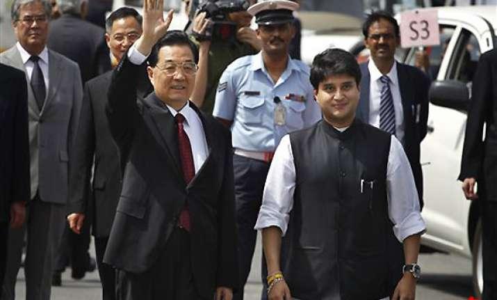 hu jintao arrives in delhi for brics summit