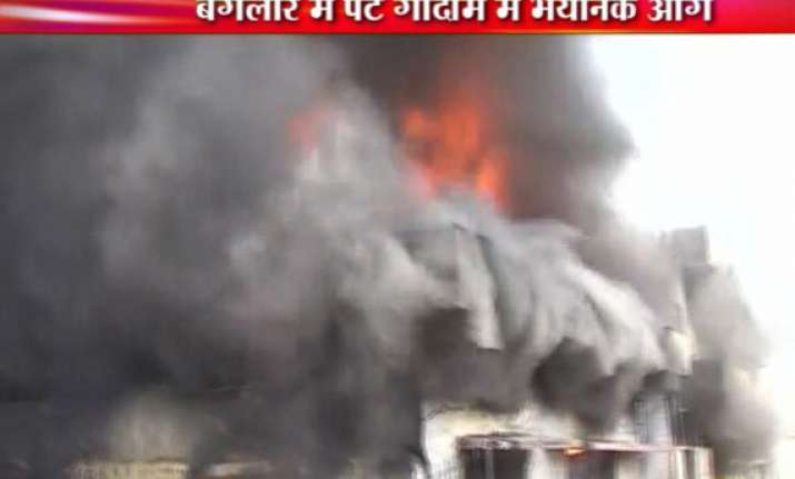 huge fire in berger paints godown in bangalore