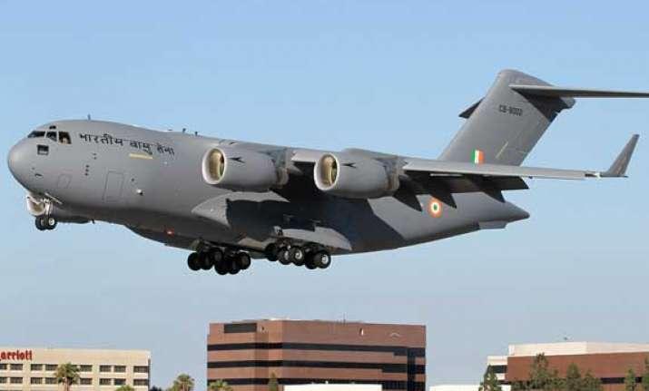 iaf gets sixth c 17 globemaster iii aircraft