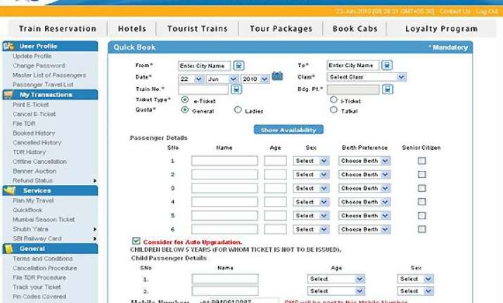 irctc website to book 7 200 tickets per minute