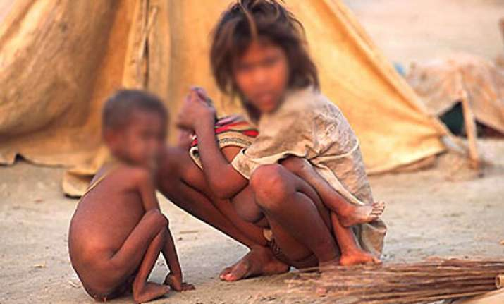 impoverished children in panna mp mortgaged for foodgrains