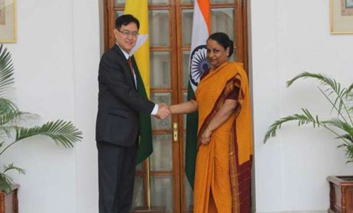 india myanmar hold talks on security cooperation trade