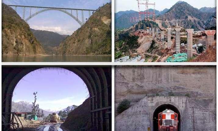 india builds world s highest rail bridge over river chenab