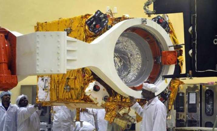 india s mars satellite mated with rocket