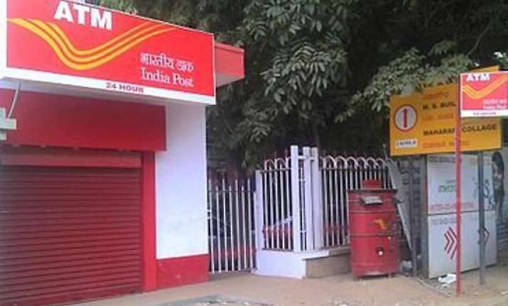 india s first post office savings bank atm in chennai