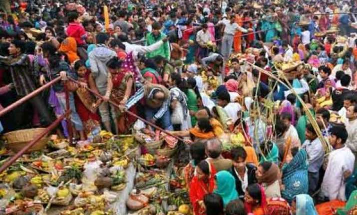 chhath puja concludes with morning arghya