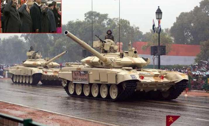 india displays military might on 66th r day in presence of