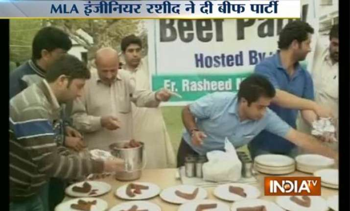 to defy hc order j k mla hosts beef party