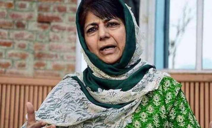 mehbooba mufti likely to be next cm of jammu kashmir
