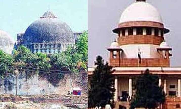 ayodhya hindu mahasabha files caveat in sc